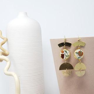 Fiber Earrings - Clay Branches.jpg