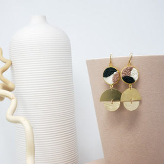 Fiber Earrings - Sandy Balance and Flow.