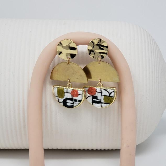 Fiber Earrings by Fearfully Made - Art N