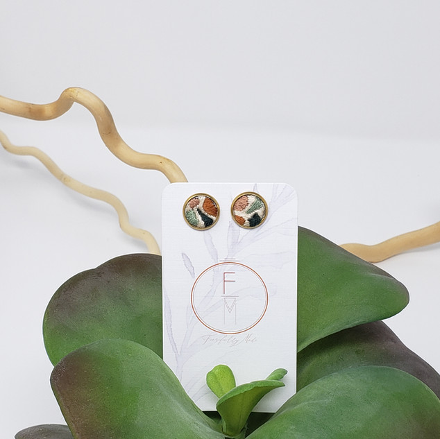 15 Fiber Studs by Fearfully Made - Rose