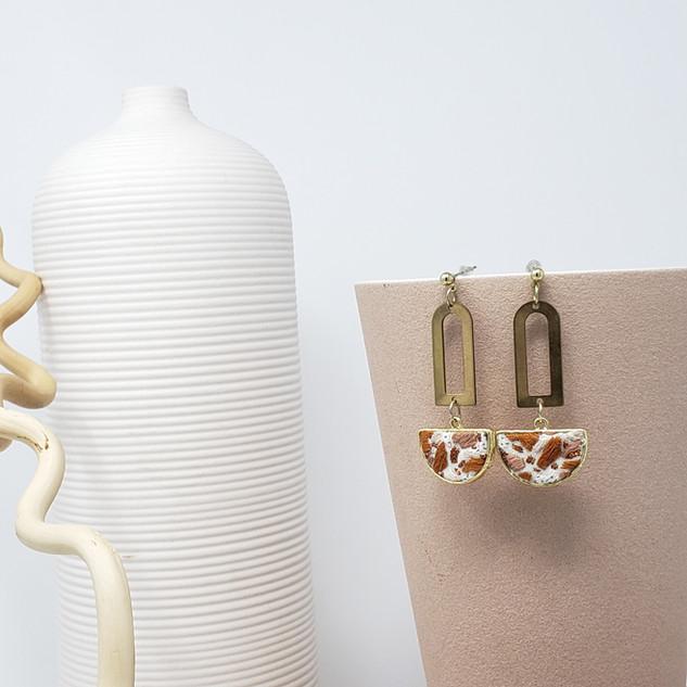 Fiber Earrings - Clay Palette Terrazzo.j