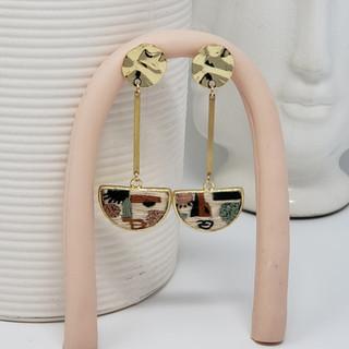 Fiber Earrings by Fearfully Made - Abstr