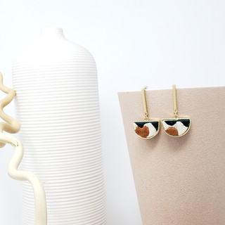 Fiber Earrings - Earth Tone Balance & Fl