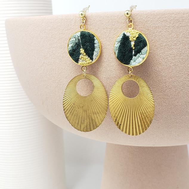 Fiber Earrings - Botanical Art Deco.jpg