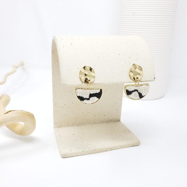 Fiber Earrings - Monochrome Balance & Fl