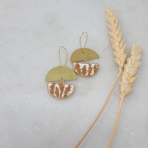 Fiber Earrings by Fearfully Made