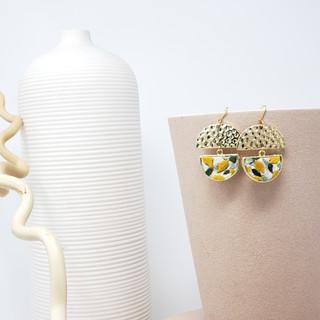 Fiber Earrings - Mini Lemon Drops.jpg