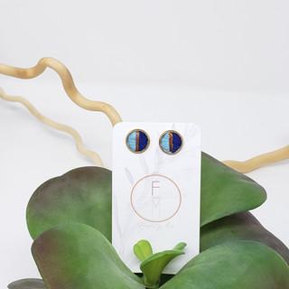 17 - Fiber Studs by Fearfully Made - Blu