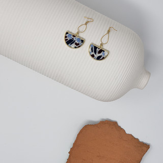 Fiber Earrings - Blue Terrazzo.jpg