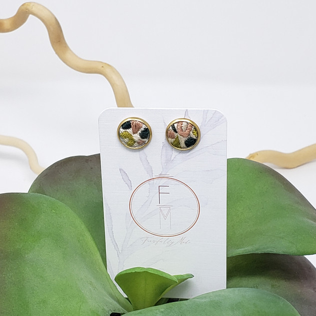9 Fiber Studs by Fearfully Made Lime & R