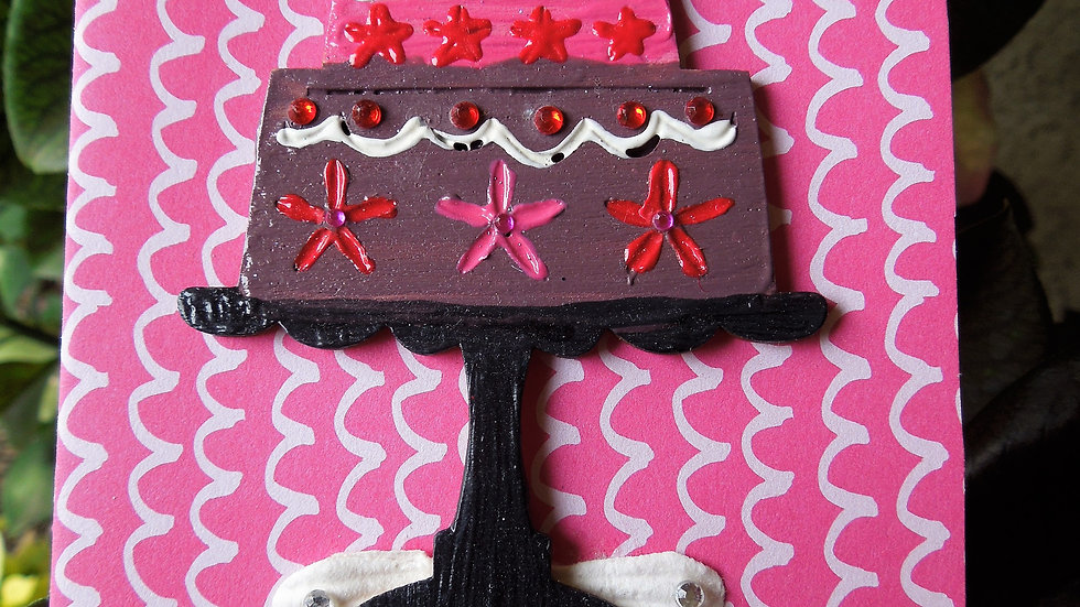 Laser Cut Puffy Paint Birthday Cake