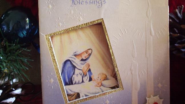 Vintage 1950's Nativity Christmas Card