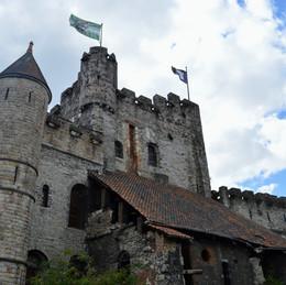 Ghent, Belgium. Kingdom Come - Gravensteen Castle.