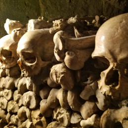 Paris, France. The Dead and Reburied, Literally - The Catacombes.