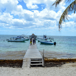 Puerto Morelos, Mexico. The Old, In and Out