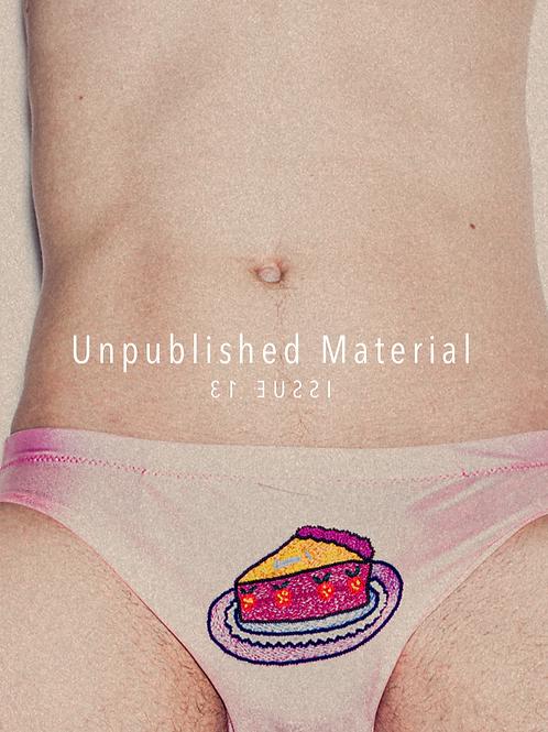 Unpublished Material #13 FANZINE