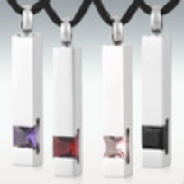 Leading Light Pillar Stainless Steel Cremation Jewelry