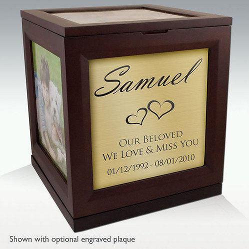 Rotating Photo Cube Cremation Urn