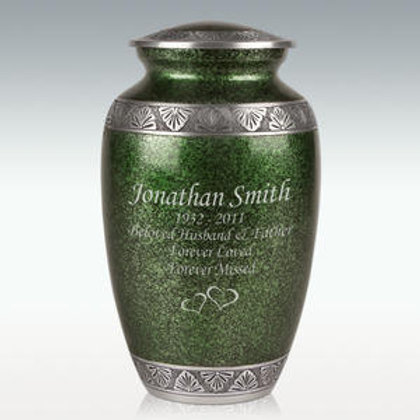 Green Lively Leaves Cremation Urn