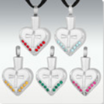 Cross My Heart Stainless Steel Cremation Jewelry