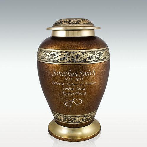 Siena Brass Cremation Urn