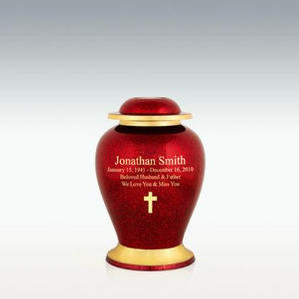 Cardinal Brass Cremation Urn