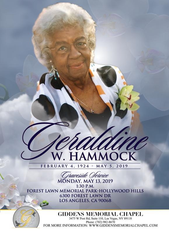 Geraldine W. Hammock Announcement.png