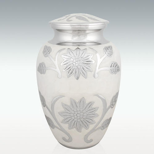 Pearl Blossom Cremation Urn