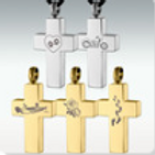Silver or Gold Stainless Steel Cross
