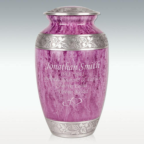 Purple Petals Cremation Urn