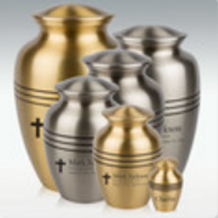 Classic Grecian Brass or Pewter Cremation Urn