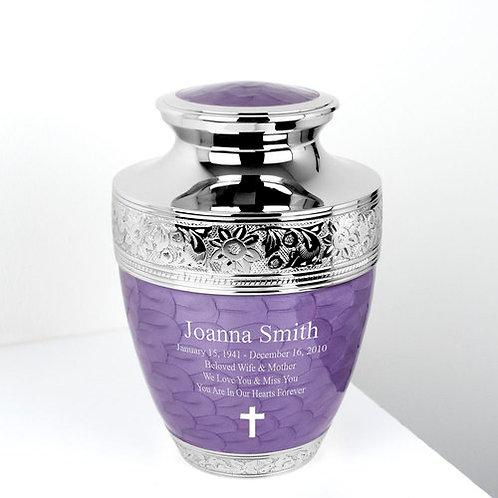 Lavender Bloom Cremation Urn