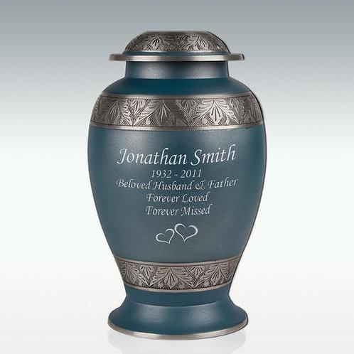 Slate Leaves Cremation Urn
