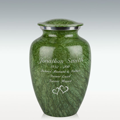 Brushed Green Cremation Urn