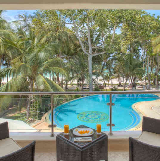 Almanara Luxury Hotel & Villas - From the Balcony with the ocean view