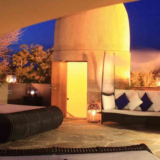 Almanara Luxury Hotel & Villas - From the rooftop at evening time