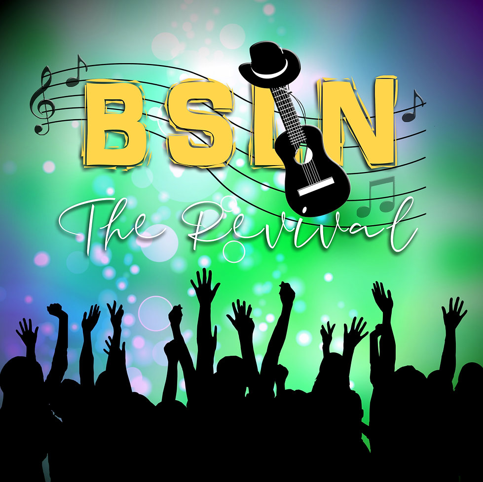 BSLN THE REVIVAL WORKING LOGO GREEN PURP