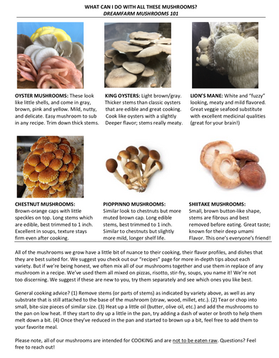 Mixed Mushrooms 101
