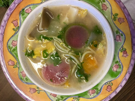 seasonal miso noodle soup