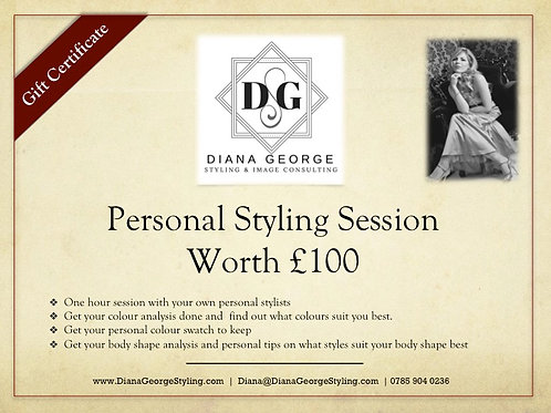 GIFT CERTIFICATE - Personal Styling Session - 1 Hour