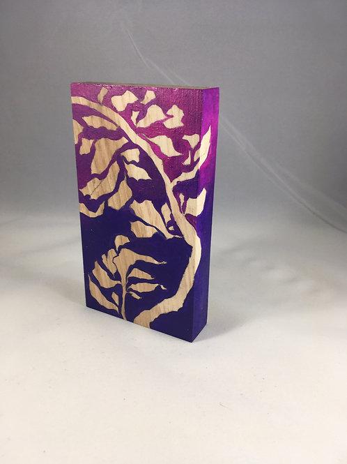 Royal Purple on Hickory Wood