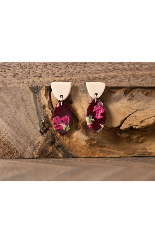 Burgundy Hibiscus Ovals