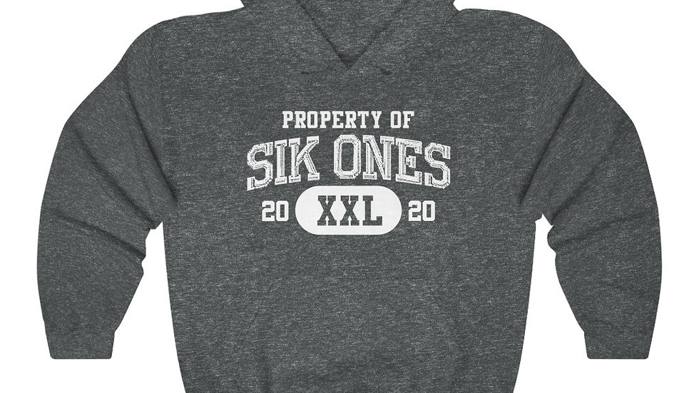 Sik Ones 2020 White Print Unisex Heavy Blend™ Hooded Sweatshirt