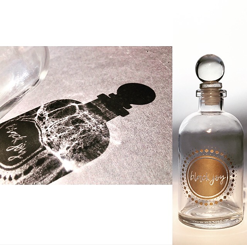 RITUAL OBJECT: Black Joy Bottle (CLARITY)