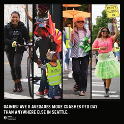 Rainier Ave S Averages more crashes per day then anywhere else in seattle
