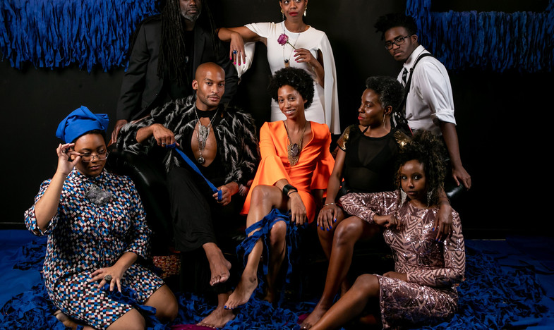 Black Joy with Roman O'Brien, Mark Fontenot, Patrick Mugalu, Salma Siddick, Naphtali Amen-Allah, Nourah Yonous, Genesis Jones, and Natasha Marin photographed by Erika Schultz.