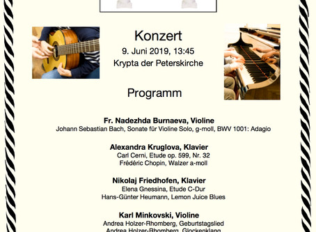 Erstes Konzert der Schüler                      der Academia Arte