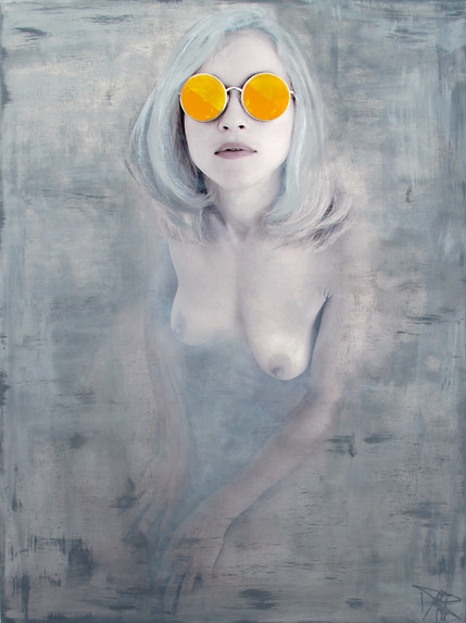 Fade away in Yellow 75x100cm