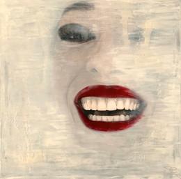 Red Lips II 100x100cm