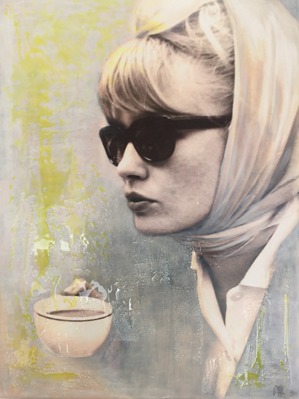 The Beauty and a Cup of Coffee 120x160cm